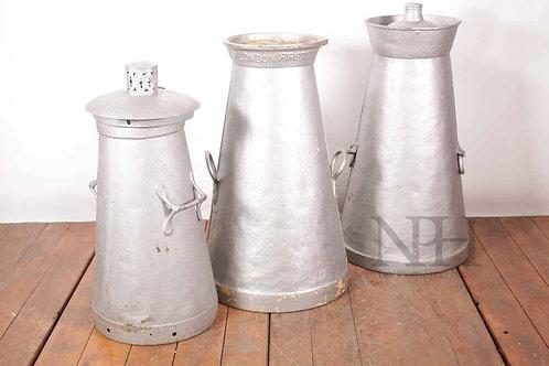Victorian conical milk churns