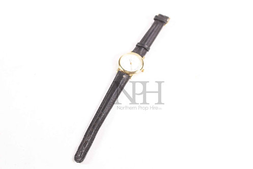 Black & gold watch
