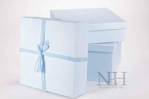 Blue shop boxes
