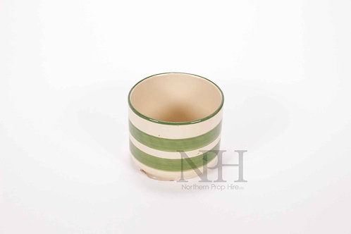 Green and white pot