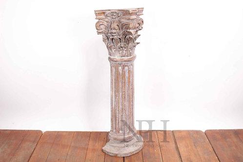 Carved wooden half column