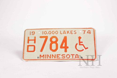 American car plate