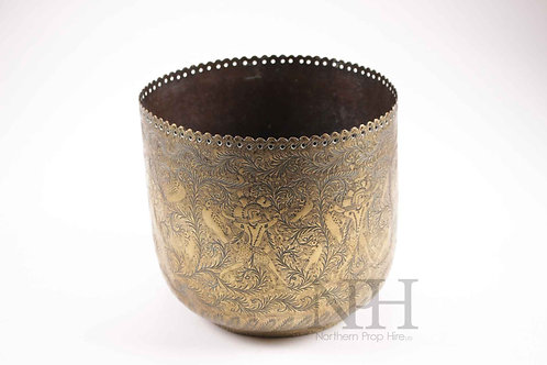 Middle eastern hand etched bowl