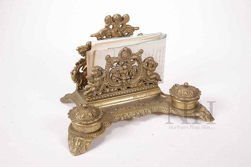 Brass desk set