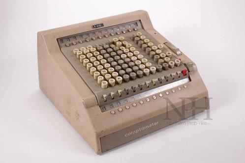 Comptometer adding machine