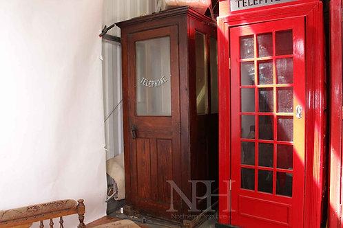 Brown telephone box