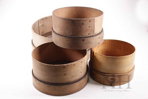 Wooden flour sieve
