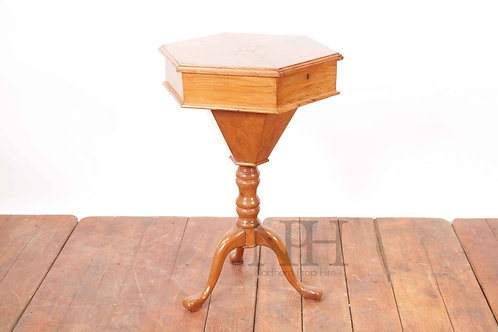 Antique sewing box on legs
