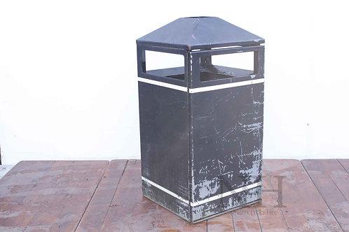 Black street bin