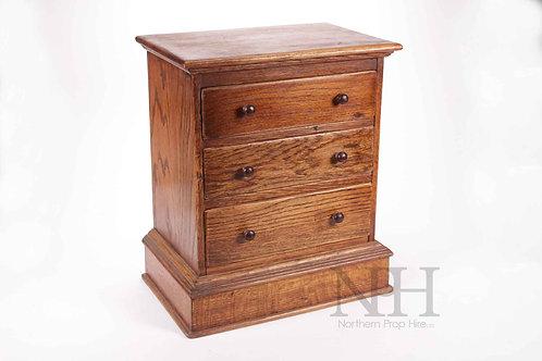 Small oak drawers