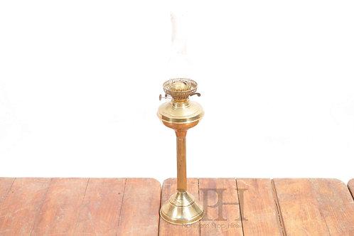 Brass oil lamps
