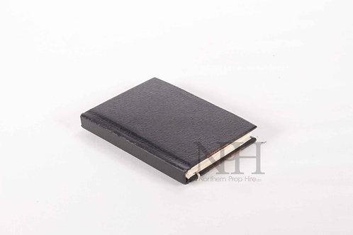 Black leather book