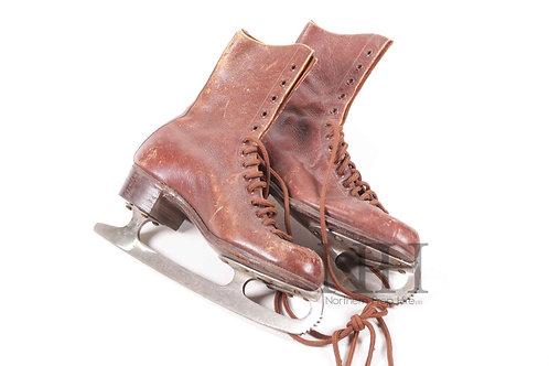 Brown vintage skates
