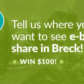An E-bike share program in Breck?