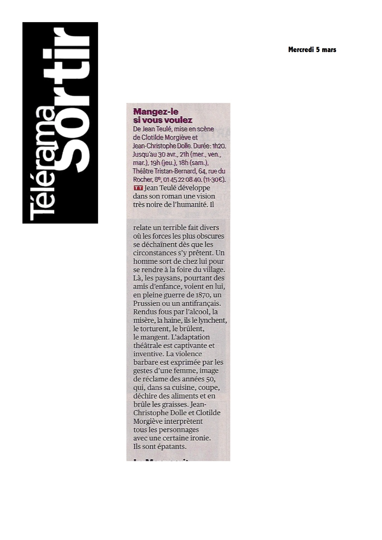 Teleramasortir 05 Mars 2014