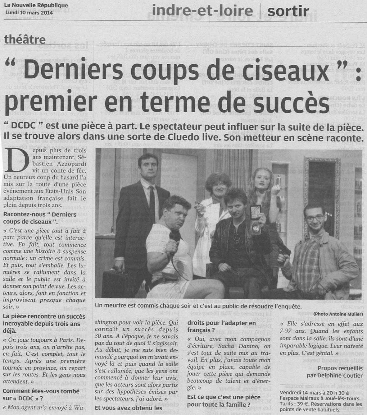 Nouvelle République Tours 10.03.14