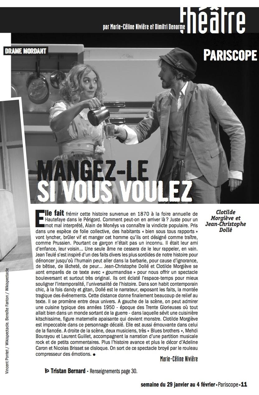 Pariscope 29 Janvier 2014