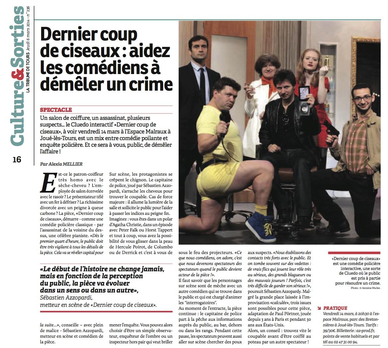 La Tribune de Tours 06.03.14