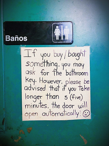 SO DON'T SHOOT UP IN THE BATHROOM