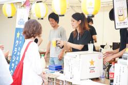 北海道の食を満喫できる 飲食ブース