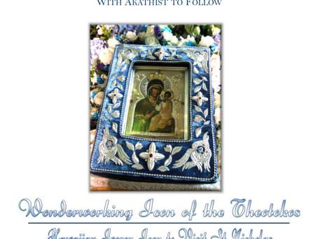 Visit from the Wonderworking Icon of the Theotokos – Hawaiian Iveron Icon to Visit St. Nichola