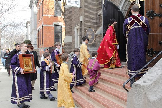 Christ the Savior Orthodox Church, Chicago, Illinois. Sunday of Orthodoxy procession.