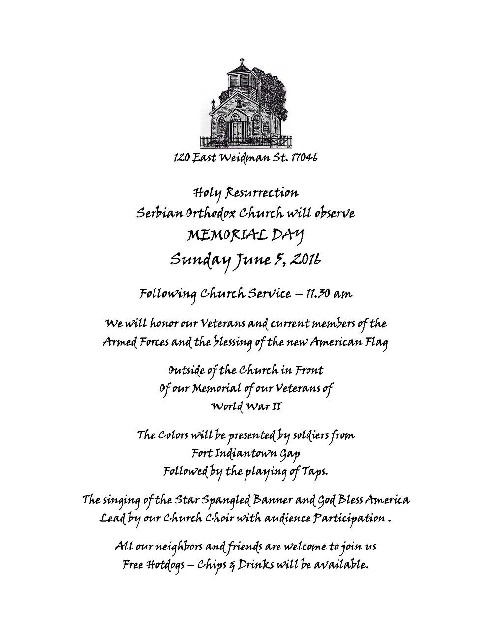 Memorial-day-June-5-th-2016