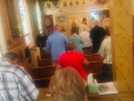 Vespers Service and End of the Summer Dance 2019