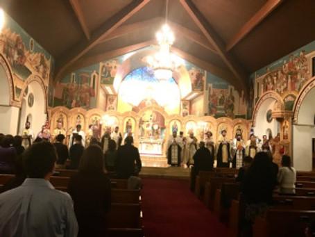 Pan Orthodox Vespers in Reading