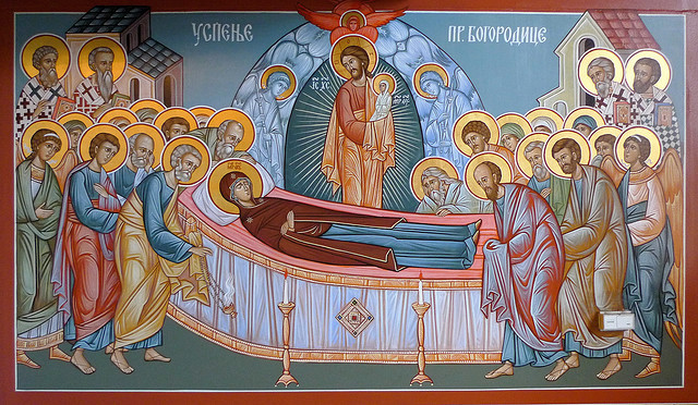 Image result for dormition of the theotokos