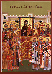 Icon for the Sunday of Orthodoxy