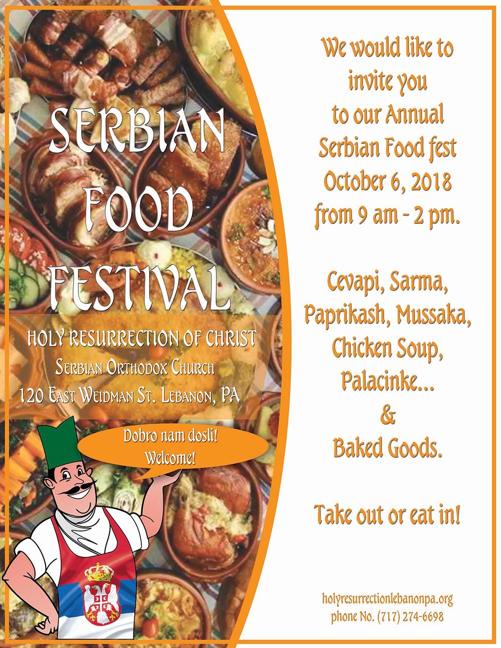 Serbian Food Festival POSTER