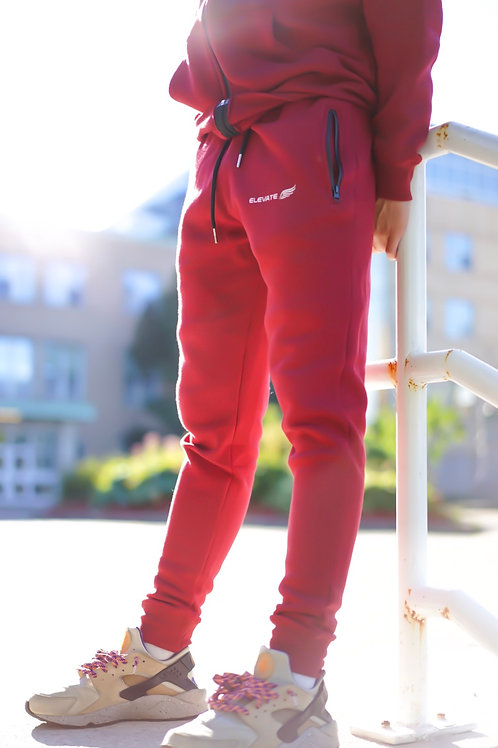 ELEVATE Elite Tracksuit- Red Joggers