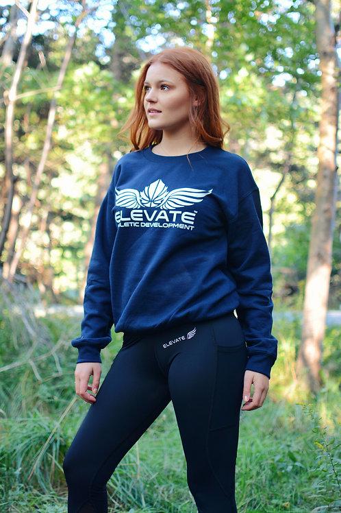 ELEVATE CREWNECK- NAVY