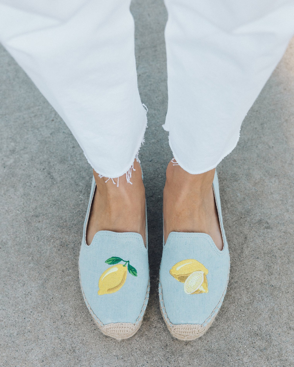 Lemon Yellow Embroidered Loafers Call Me By Your Name