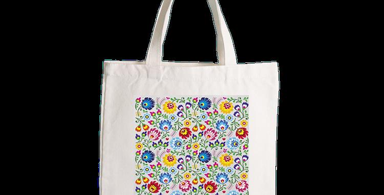 波蘭民俗圖案 Tote Bag (100%天然棉)