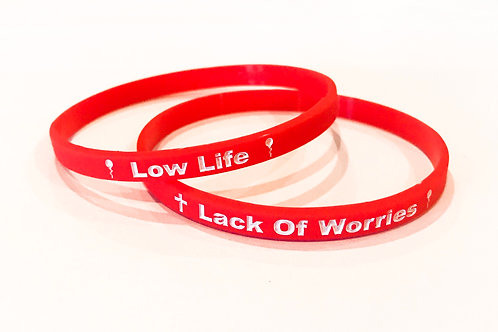 1 Thin Red Low Life Lack Of Worries Band