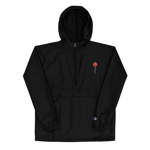 Red Balloon Embroidered Champion Packable Wind/Water Resistant Jacket