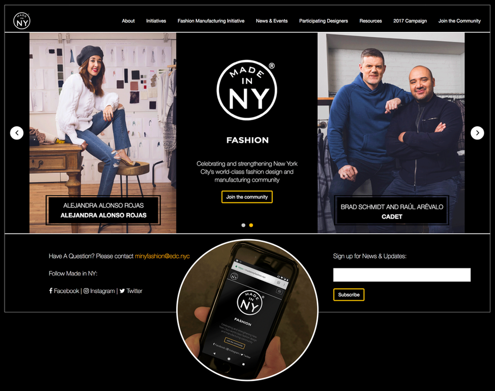Made in NY: Fashion  Web and Mobile Art Direction