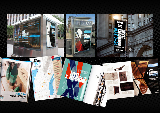 NYCxDESIGN is a festival of international design professionals and enthusiasts, gathering to experience design and influence the future through exhibitions, installations, trade shows, panels, product launches, open studios, and more.  Art direction and production for OOH and advertising design.