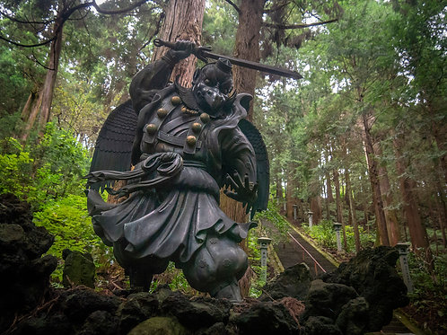 Tengu with Sword - Daiyu-zan Saijo-Ji