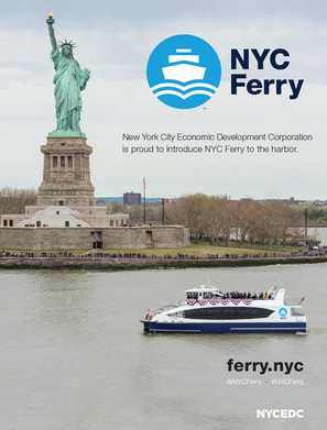 The NYC Ferry service connects the New York boroughs of Manhattan, Brooklyn, Queens, and the Bronx to provide critical transportation links for areas currently underserved by transit and connect them to job centers, tech hubs and schools in and around New York City.  Advertising art direction and design.