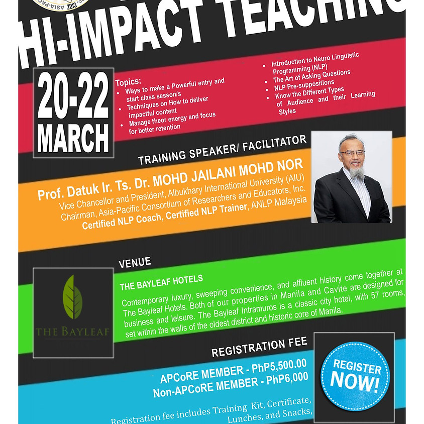 Training on Hi-Impact Teaching