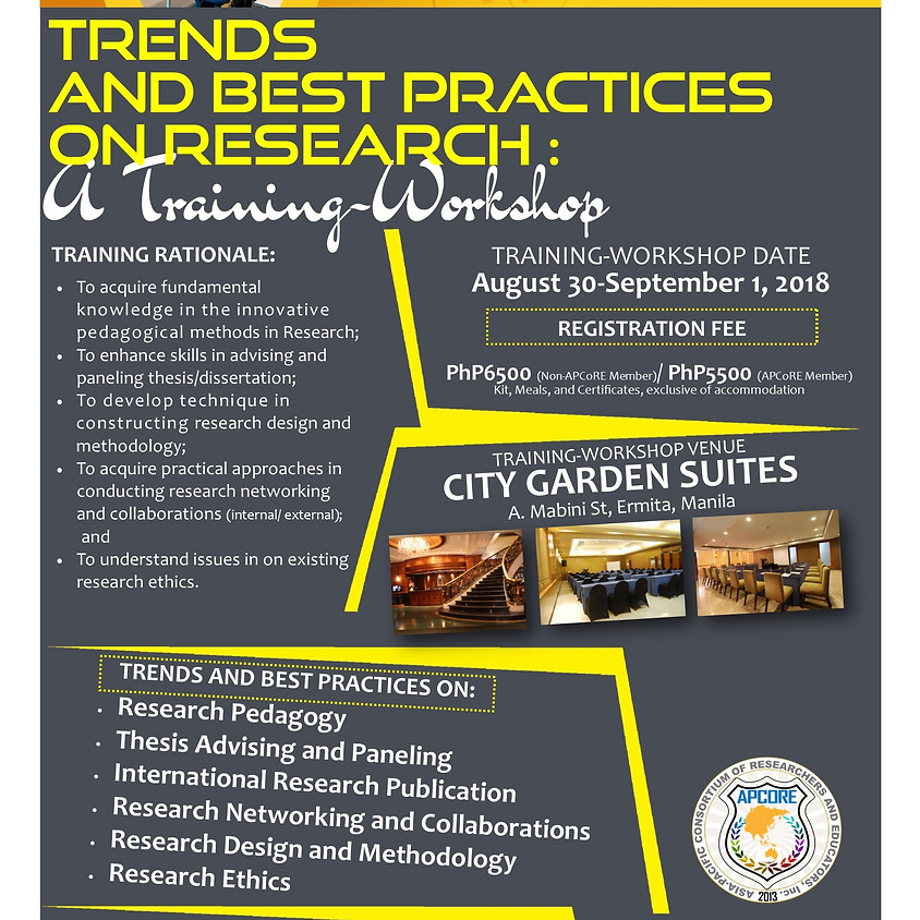 APCoRE Research and Capability Building Program