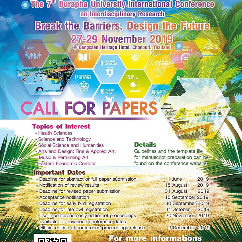 7th 2019 Burapha University International Conference