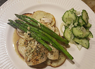 Cod with Asparagus and Potato
