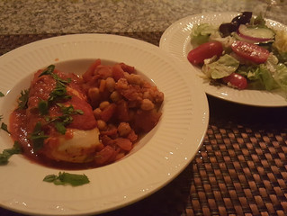 Goat Cheese Stuffed Chicken Breast w/ Smokey Chickpeas (memories of Spain)