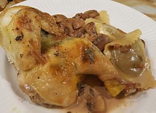 Cornish Hen w/ Madeira Mushroom Sauce