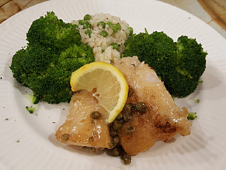 Grouper with Capers and Lemon