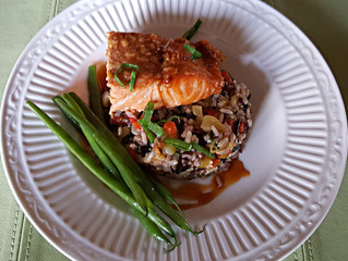 Maple Soy Glazed Salmon